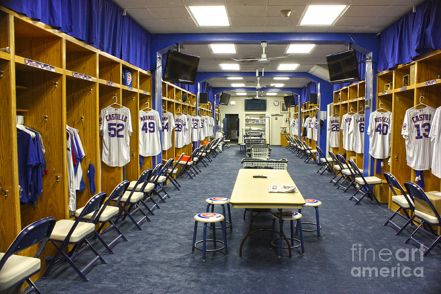Chicago Cubs Dressing Room Photograph