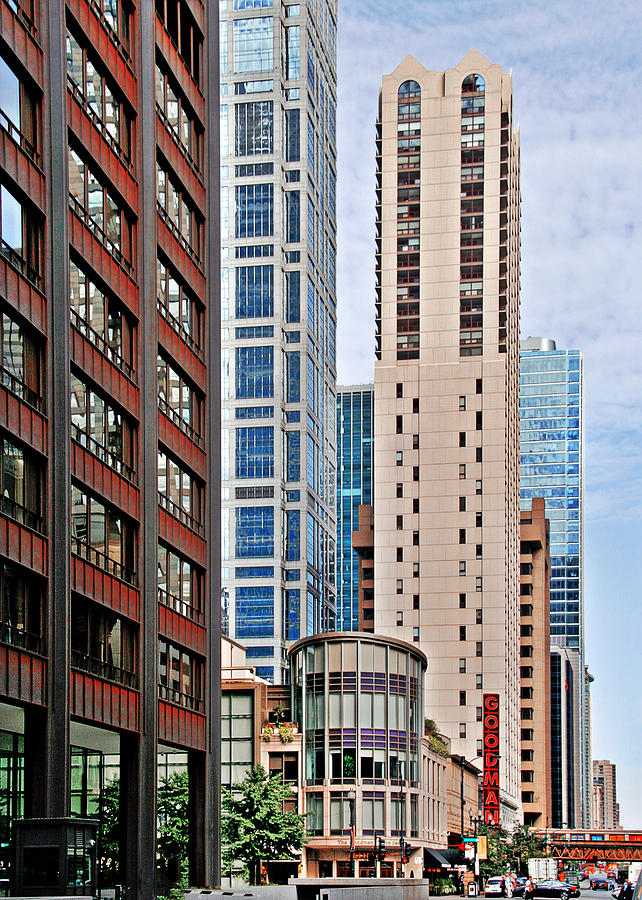 Chicago - Goodman Theatre Photograph  - Chicago - Goodman Theatre Fine Art Print