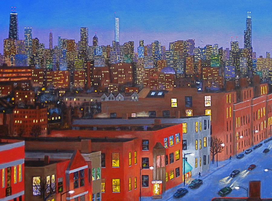 Chicago Is Neighborhoods Painting  - Chicago Is Neighborhoods Fine Art Print
