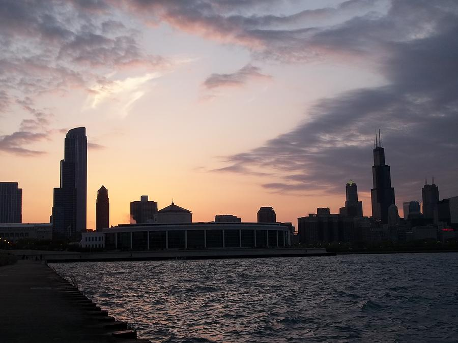 Chicago Lakefront Sunset Photograph  - Chicago Lakefront Sunset Fine Art Print