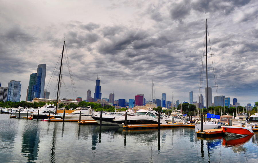 Chicago Photograph - Chicago N Sails by Emily Stauring