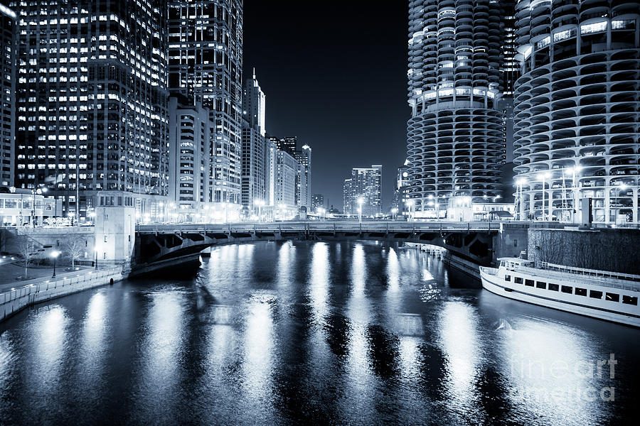 Chicago River At State Street Bridge Photograph