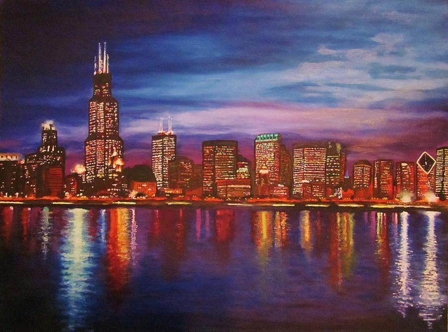 chicago skyline art - photo #1