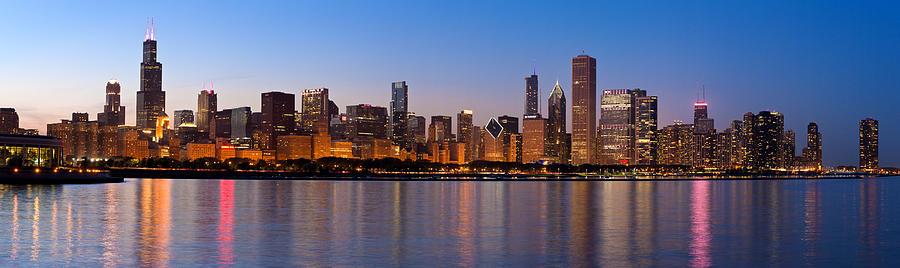 Chicago Skyline Evening Photograph