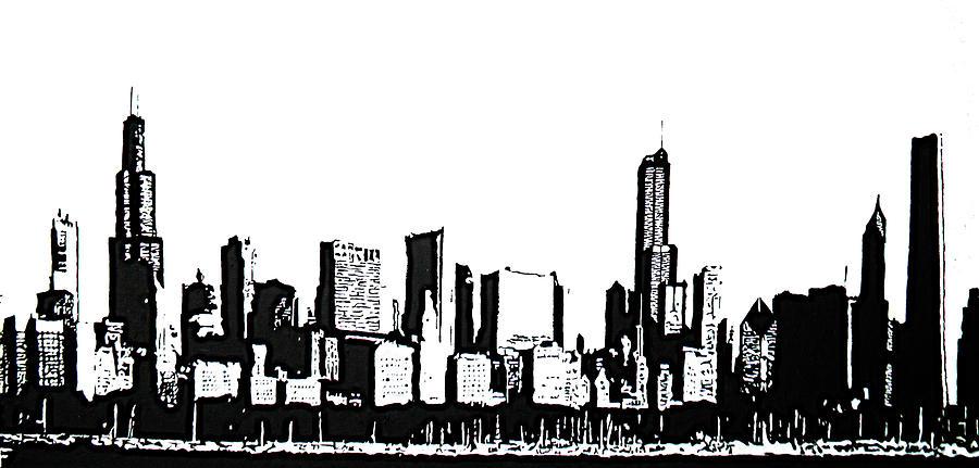 chicago skyline art - photo #8