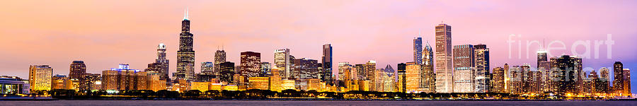 Chicago Skyline Panoramic Photograph