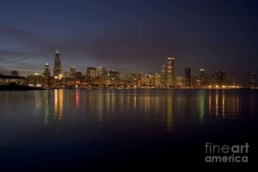 Chicago Skyline  Photograph  - Chicago Skyline  Fine Art Print