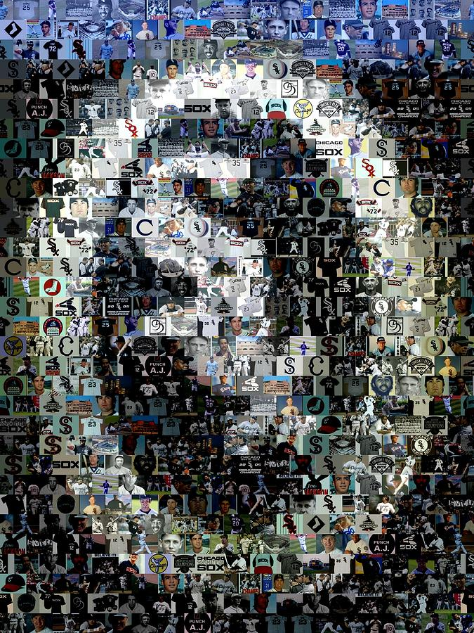 Chicago White Sox Ring Mosaic Digital Art  - Chicago White Sox Ring Mosaic Fine Art Print