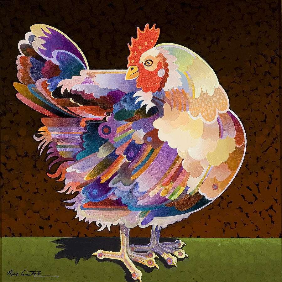 Chicken From Jamestown Painting