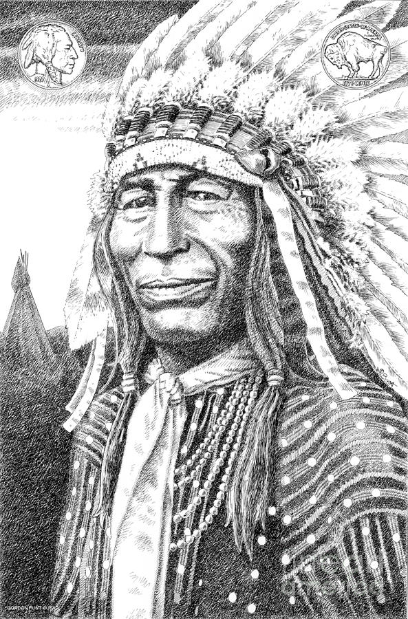 Chief-iron-tail Drawing  - Chief-iron-tail Fine Art Print