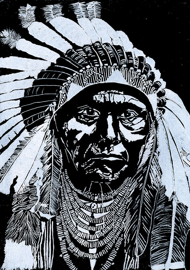 Chief Joseph Glass Art  - Chief Joseph Fine Art Print