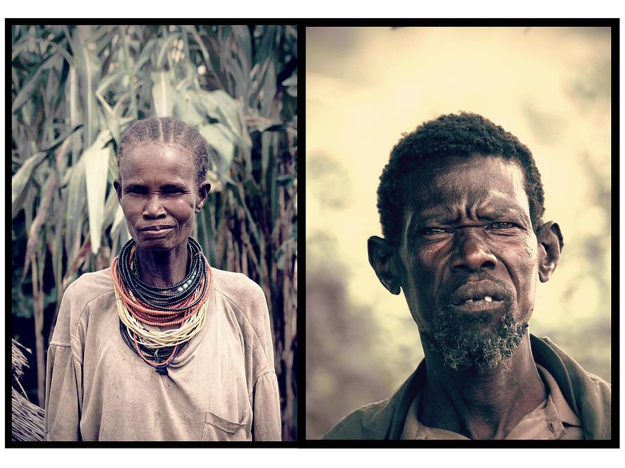 Karamojong Pyrography - Chief Of The Tribe by Marian Barbu