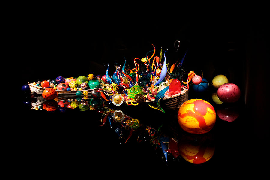 Chihuly Glass Boat Photograph  - Chihuly Glass Boat Fine Art Print