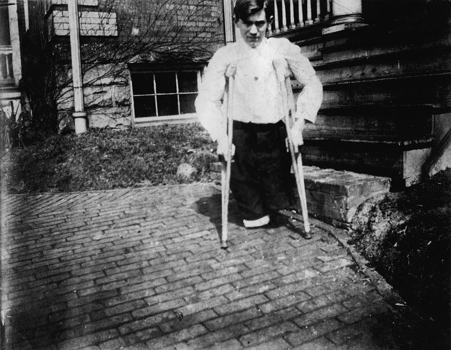 Child Labor, Frank P., Legs Were Cut Photograph  - Child Labor, Frank P., Legs Were Cut Fine Art Print