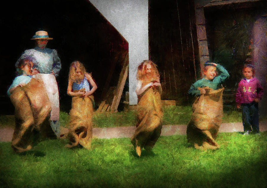 Children - The Sack Race  Photograph  - Children - The Sack Race  Fine Art Print