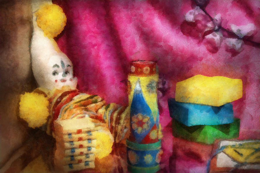 Children Photograph - Children - Toy - Earliest Childhood Memories by Mike Savad