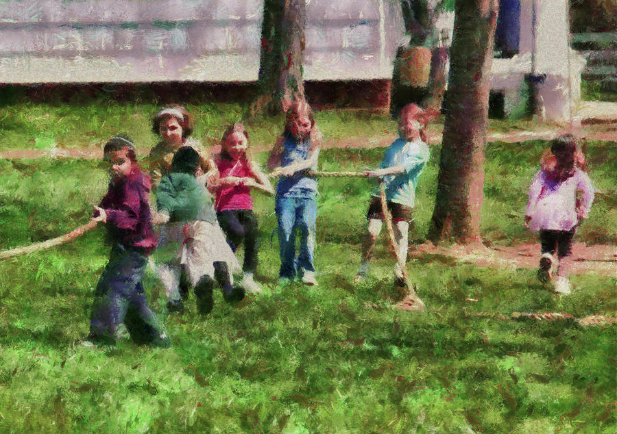 Children - Tug Of War  Photograph