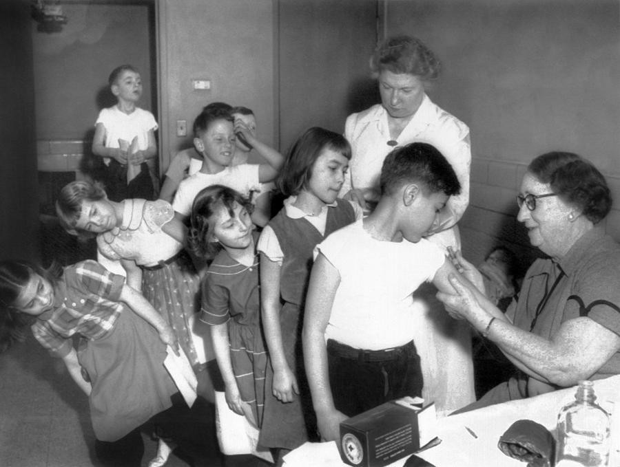 Children Inoculated Against Diphtheria Photograph