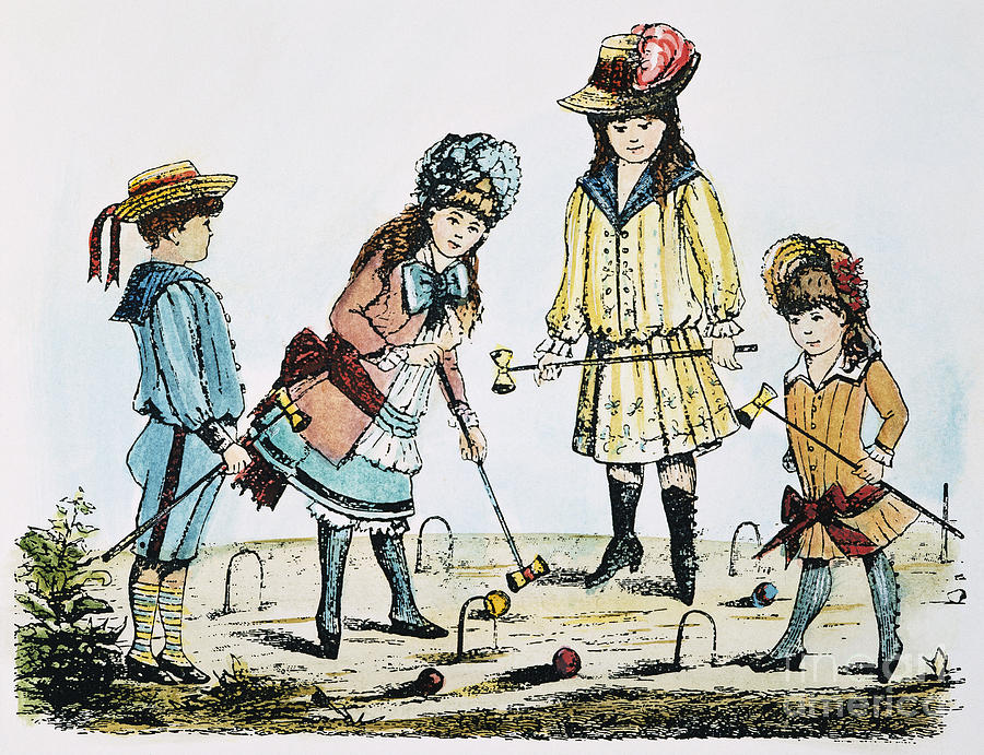 Children Playing Croquet Photograph