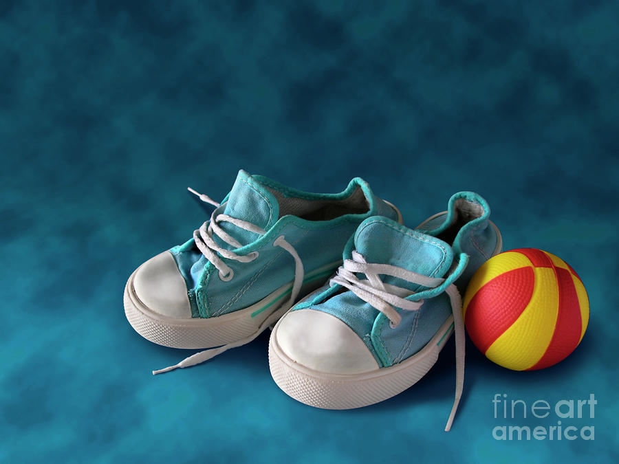 Children Sneakers Photograph  - Children Sneakers Fine Art Print