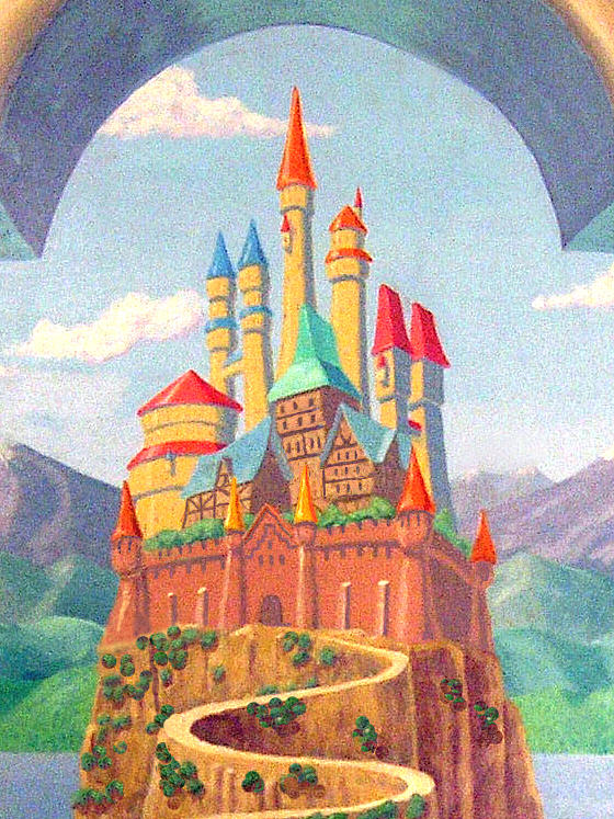 Childrens castle mural detail los angeles by tim cornelius for Painting in los angeles