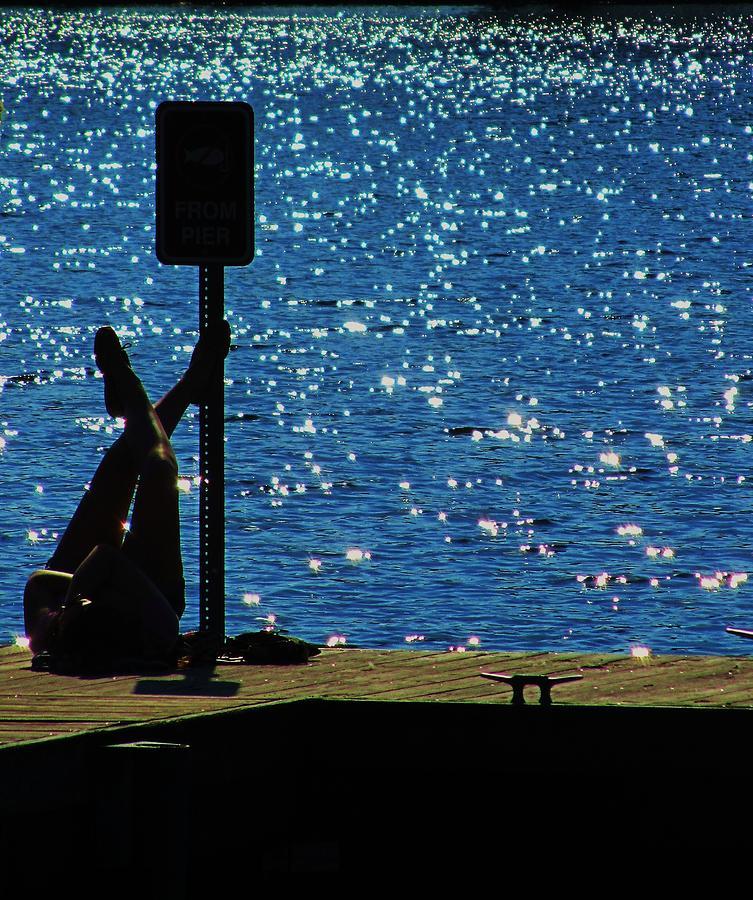Sun-bather At Lake Photograph - Chillin by Todd Sherlock