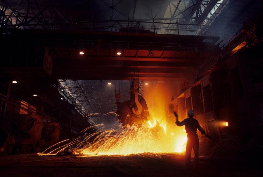 China Steel Mill Photograph  - China Steel Mill Fine Art Print
