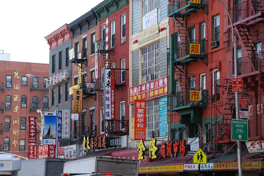 China Town Buildings Photograph