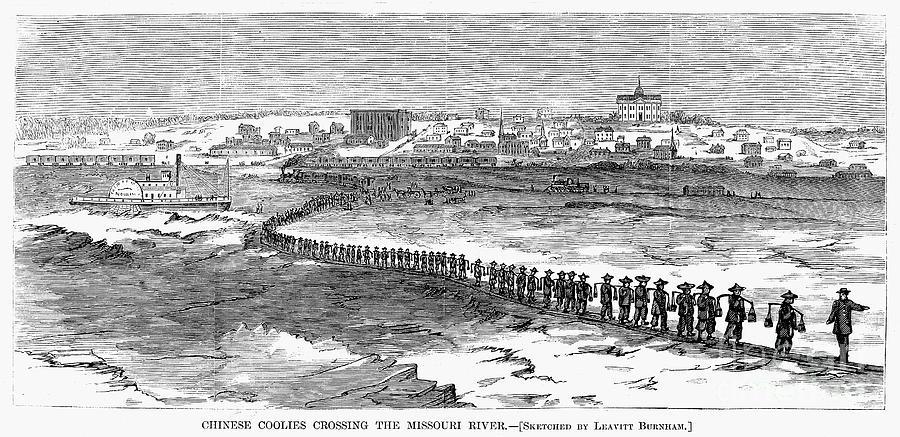 Chinese Laborers, 1870 Photograph