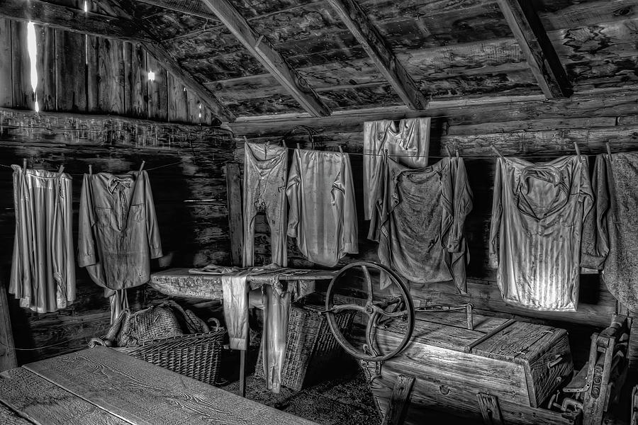 Chinese Laundry In Montana Territory Photograph