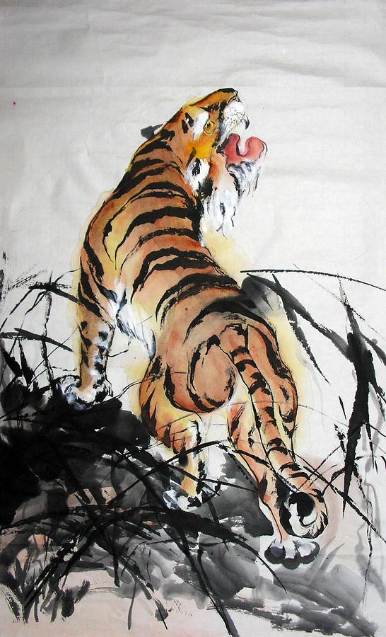 Ancient chinese tiger drawing - photo#15