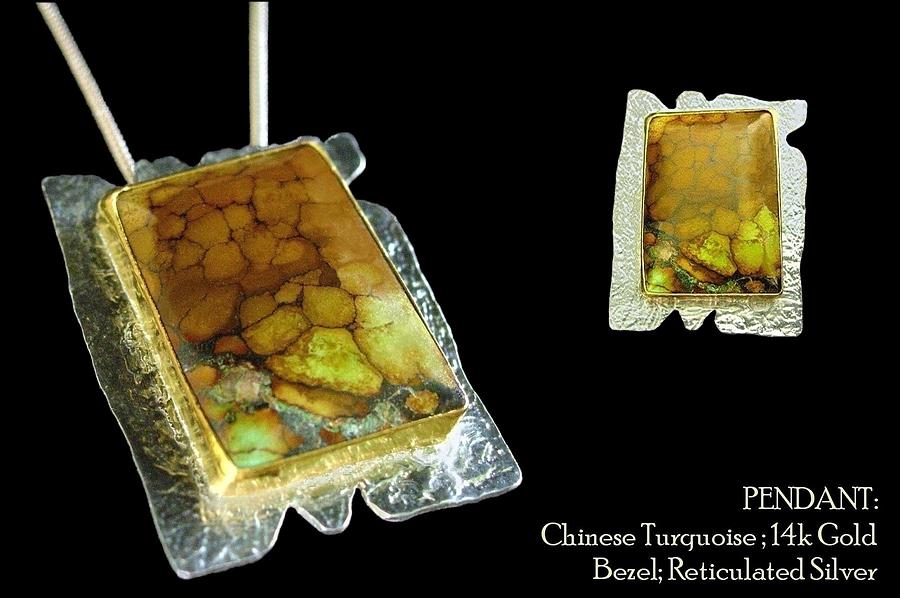Chinese Turquoise Pendant Jewelry