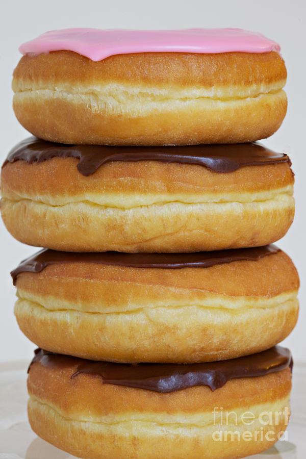 Donuts Photograph - Chocolate Chocolate Chocolate Pink by Kim Fearheiley