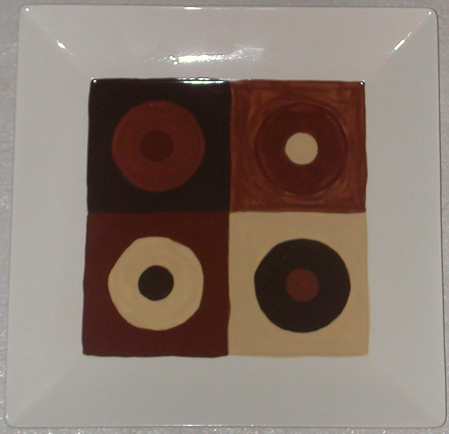 Chocolate Circles Ceramic Art