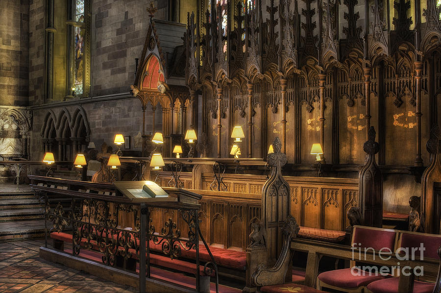 Cathedral Photograph - Choir Seating by Ian Mitchell