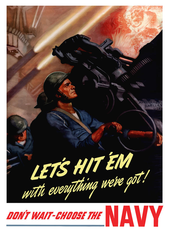 Choose The Navy Ww2 Painting