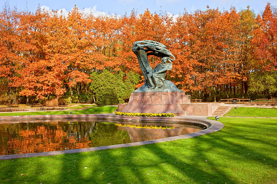Chopin Monument In The Lazienki Park Photograph