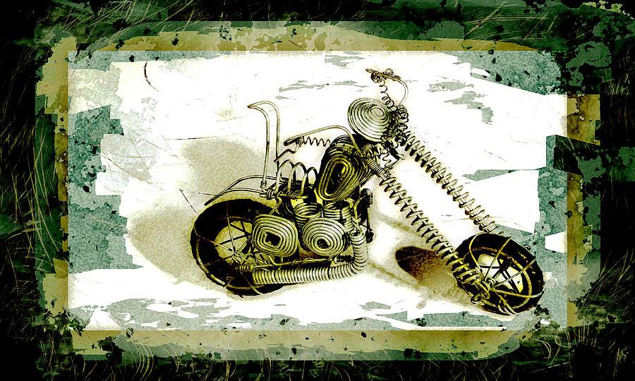 Art Pyrography - Chopper 1 by Mauro Celotti