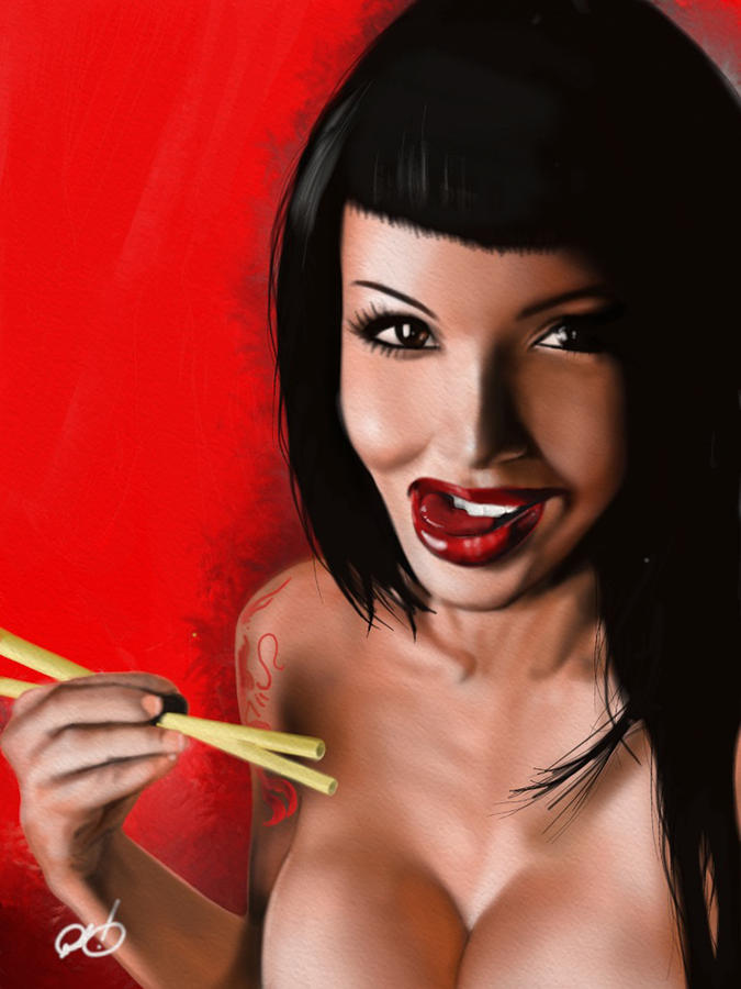 Chopsticks Painting  - Chopsticks Fine Art Print