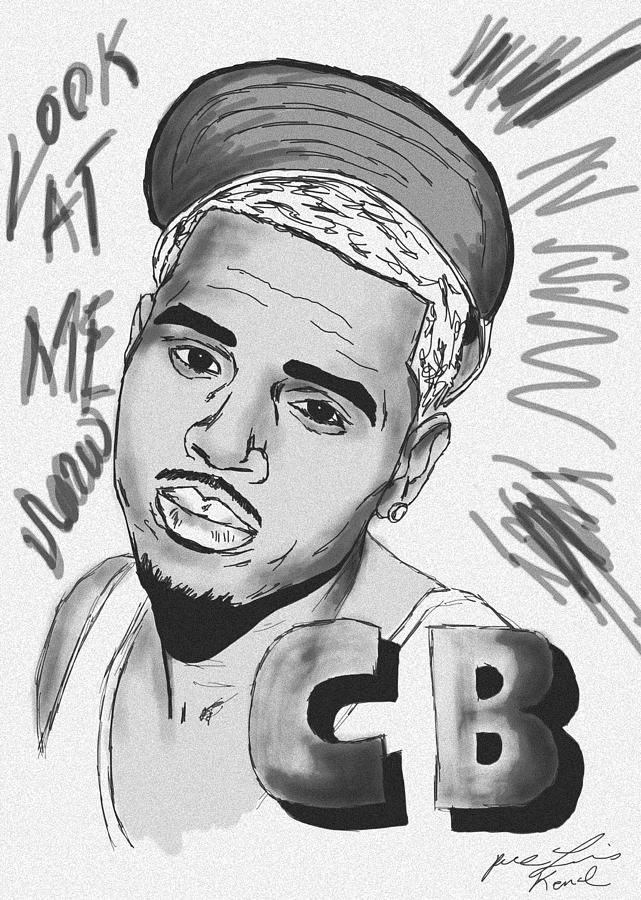 Chris Brown Cb Drawing Drawing  - Chris Brown Cb Drawing Fine Art Print