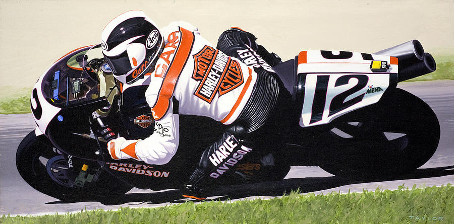 Chris Carr Harley-davidson Vr1000 Superbike Painting
