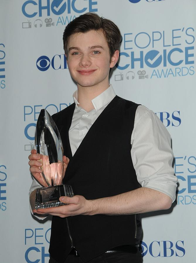 Chris Colfer Photograph - Chris Colfer In The Press Room by Everett