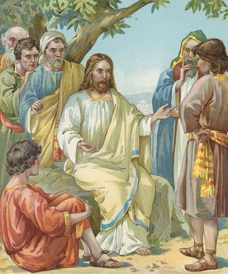 Christ And His Disciples Painting  - Christ And His Disciples Fine Art Print