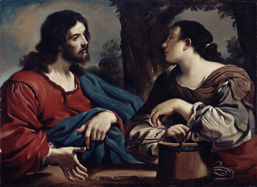 Christ And The Woman Of Samaria Photograph  - Christ And The Woman Of Samaria Fine Art Print