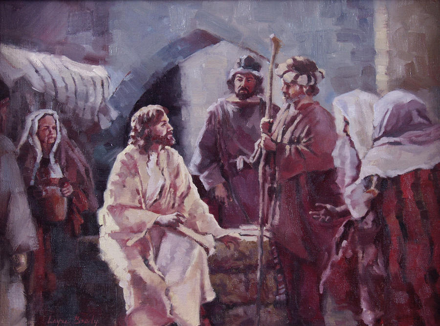 Christ At The Well Painting  - Christ At The Well Fine Art Print