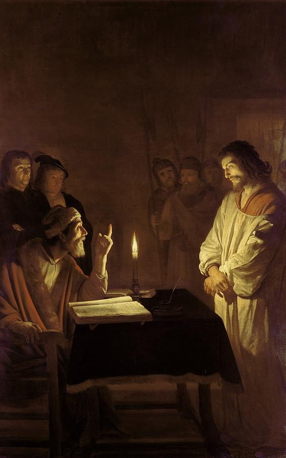 Christ Before The High Priest Painting  - Christ Before The High Priest Fine Art Print