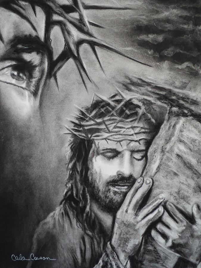 Christ Drawing  - Christ Fine Art Print