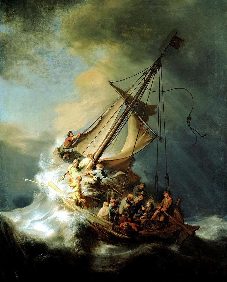 Christ In The Storm Painting