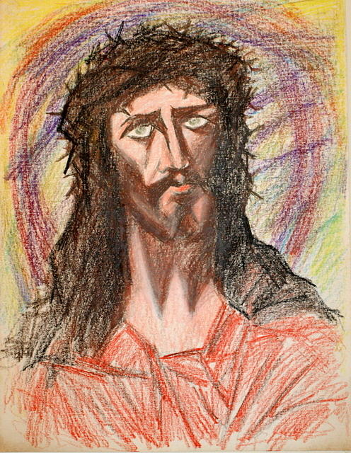 Brown Painting - Christ by Joao Guedes Silva