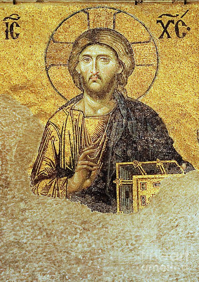 Christ Pantocrator-detail Of Deesis Mosaic Hagia Sophia-judgement Day Photograph